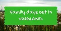 Family days out in England / Family and kids days out in England - see our separate boards for Yorkshire, for London, and for Devon