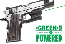 Green Laser Sights / There's green, then there's Crimson Trace green - a green laser solution that measures up to our rigorous standards.  That means longer battery life, a brighter, more consistent beam, and equipped with the industry leading and patented Instinctive Activation™.
