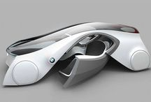"""Concept """"transports"""" / Dibuixos, infografies i prototips de cotxes conceptuals."""