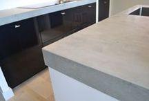 Werkblad / Inspiratie bij het kiezen van een werkblad. Beton, betonlook, graniet, keramisch, composiet, kunststof enz.