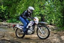 Adventure Motorcycles for Shorter Riders / If you are an average height woman or man, you probably have a hard time finding an adventure bike that isn't too tall.  Here are some ADV Bikes that will let you get both feet on the ground.