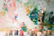 Watercolor / Light, airy and filled with color, this trend has been building and has finally burst to every room in the home. We're loving everything from watercolor-inspired bedding, to ceramics, wallpaper, lamps and more.