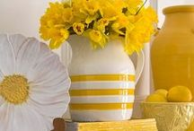 """Say Yellow! / Want to brighten up a room? Say """"Hello Yellow!"""" A yellow room all on its own may be a bit too bright, even for the most seasoned color lover. But, adding in pops of yellow with wall decor and home accents will give you a quick hit of gorgeous, sunny color that will get your mood popping!"""