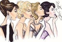 Croqui de moda / Ilustração de moda