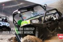 """WARN / The off-road equipment and accessories company that enhance the performance of four-wheel-drive vehicles, ATV's and utility vehicles. """"GO PREPARED""""."""
