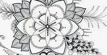 Saját doodling és mandalák