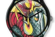 Montres Swatch by Tin-Tin Tatouage / Edition limitée du célèbre tatoueur français qui a tatoué John Galliano et Jean Paul Gauthier