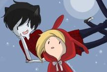 Marshall Lee, Fiolee, Adventure Time / All of the above <3