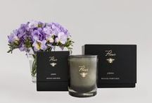 Noir Collection / The Noir Collection is distinguished by its black glassware with our signature golden bee and is available in nine distinctive fragrances. Net Wt. 8 oz. Burn time: approximately 50 hours