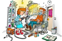 Tandarts cartoons / Cartoons over tandartsen en Mondhygiënisten.   (Cartoons zijn als print verkrijgbaar op elk gewenst formaat)