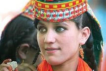 Kalash People / The Kalash people are an isolated group in northern Pakistan with distinctly Caucasian features. It is thought that they may be descended from the soldiers of Alexander the Great. The Kalash are related to the Nuristani of Afghanistan, but the Nuristani were forcibly converted to Islam several centuries ago. The Kalash have their own religion which is NOT Islam