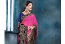 New Arrival Designer sarees / New Designer Sarees. Designer sarees are the trendy and current style accepted types which are designed and crafted with the concern of colour, combination, fabrics, and elements, pattern cuts, which are in trend or focus on new fashion. These are uniting and harmonizing designs which bring the best and latest styles, inspired by designer's collection which is followed by fans.