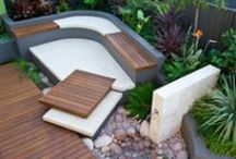 contemporary courtyards / Think theres not much you can do with your little patch of dirt after you have built your giant house.