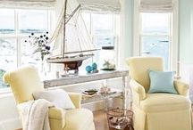 Beach Decor / There is something beautiful and peaceful about designing your home with that coastal feel to it.  Like you're on vacation everyday!