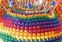 Manualidades o labores en crochet / Piezas utilitarias repetitivas, patrones, cómo hacerlo,