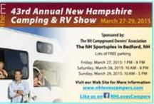 NH Camping & RV Show / New Hampshire's Largest Camping and RV Show featuring dealers with the latest RVs, trailers, pop-ups, tents, and camping equipment. Visit with more than 50 campground owners/managers from NH and neighboring states to learn about their campground.
