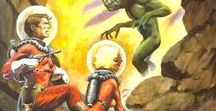 SF Pulp / Brave spacemen rescuing curvy women from evil martians.