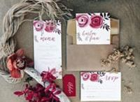 Wedding Stationery / Wedding stationery, invitations, menus, name cards, seating boards.