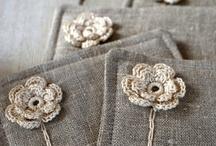 crochet - flower, herbage