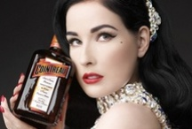 Dita Von Teese for Cointreau / As a beautiful, retro-chic and romantic muse, she carries herself with grace and elegance. Dita has been collaborating internationally with Cointreau for several years and continues to imagine cocktails and accessories inspired by her universe and her tastes.