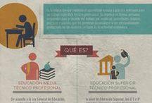 Educación Técnica / Infografías sobre la educación media y superior técnico profesional en Chile.
