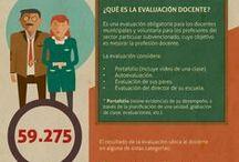 Carrera Docente / Infografías sobre formación y carrera profesional docente.