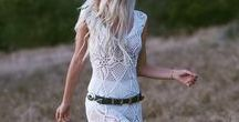 Boho Chic Style + | cinched detail | / Boho chic, bohemian style, vintage inspired.