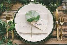 Table Settings / Every detail counts when it comes to the table setting for your wedding or event.