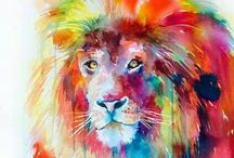 Painting with paint brush / Just my fav art on pinterest