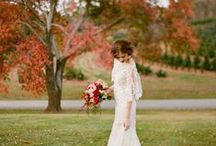 Fall Weddings / Crisp air and warm tones set the mood for dreamy fall weddings.