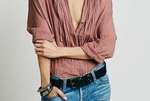 Denim  [ personalize with belt ] / Make a statement in your denim outfit using a belt right on your hips. It helps to create an optical illusion that your waist is smaller! Great trick, I know. Go ahead and choose the best belt for you at adacollection.com