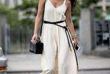 Rompers + Jumpsuits [ accentuate waist with belt ] / Notice how jumpsuits and Rompers have a seam around the mid waist and usually elastic? How about covering it up and accentuating your waist? Making it look smaller? You can with an ADA belt. You're welcome. :)
