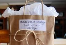 Brown Paper Packages Tied Up with Strings / Gifts / by megan k