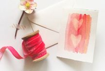 Craft ink and stamps