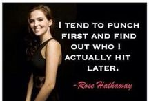 Quotes and others from The Vampire Academy