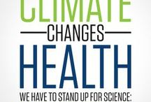 "Health vs Climate Δ / Increased water scarcity, heat deaths, mold allergies, asthma attacks, mosquito vectors, cholera, malaria, dengue, lyme and other 'exotic' infectious diseases in humans and animals.  Increase in toxic algal blooms. Increased mass drought, wildfires, degradation of soil quality, violence rates, land & water wars, poverty, malnourishment, and severe hunger. ""climate change is ... extreme, horrific, long-term, widespread violence."" Rebecca Solnit #ActOnClimate"
