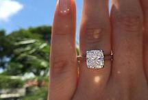 Cushion Cut Engagement Rings / Beautiful Cushion Cut diamond rings and cushion shaped engagement ring settings