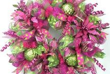 Christmas- Lime Green & Hot Pink / Christmas decorating ideas with lime green and hot pink colors / by Southern Charm Wreaths
