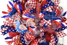 Patriotic Wreaths July 4th Wreaths / designed by www.southerncharmwreaths.com / by Southern Charm Wreaths