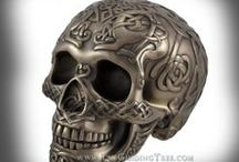 Skulls for Fun & Decor / Human Skulls are a fascinating decorating motif and our collection is gorgeous! With Celtic Knotwork, Smooth Bronze Finishes, and Striking Colors, these are really Cool!