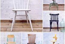 Have a seat / Mix & Match.  Sillas y sillones bonitos de diferentes estilos y épocas - solos o en grupo.