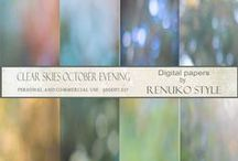 Textures and digital papers / Natural textures, rust, paper, fabric, wood, digital downloads