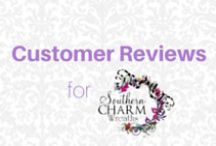 Customer Reviews Southern Charm Wreaths / Just some of the customer reviews of my products. You can see more reviews here http://www.etsy.com/shop/southerncharmwreaths/reviews / by Southern Charm Wreaths