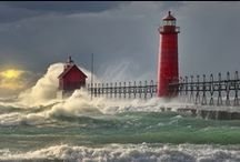 Lighthouses around the world / Lighthouses. A Beacon to light our way... / by Mary Costello