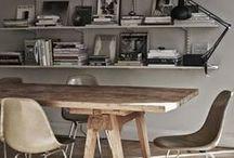 shelfs, storage, workspace,studio, vintage / ich arbeite überall in meiner wohnung. ordnungshelfer, pfiffige arbeitsplätze , gute (stau)-raum-lösungen , um arbeiten und wohnen elegant zu verbinden.