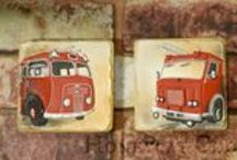 Fire Engine and Motorbike Cookies
