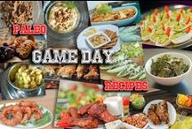 Super Bowl Snacks Game Day food / Entertaining a crowd?  Snacks appetizers and finger food for your game day enjoyment.  Paleo recipes for Super Bowl, or any spectator events!