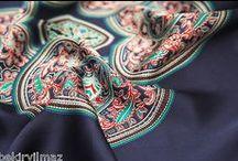Eşarplar / ipek eşarp, başörtüsü, hijab, turban,