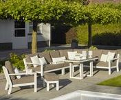 Timber loungeset wit | BuitenHof Tuinmeubelen