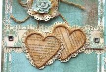 Mixed Media inspiration / I haven't made this myself but I love this mixed media art...